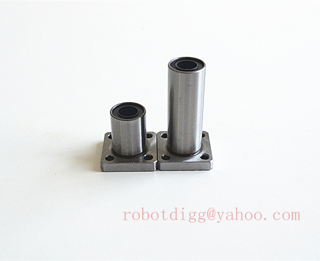 5pcs <font><b>LMK10LUU</b></font> Square Flange Type Straight Line Linear Bearings Steel welcome to buy image