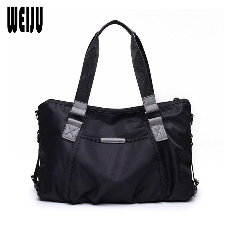 WEIJU 2017 New Travel Bag Women Portable Fashion Ladies Handbag Shoulder Bag Casual Nylon Waterproof Travel Bags Totes