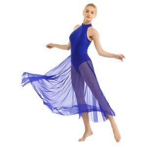 Image 3 - Femmes Femme danse robe ballerine justaucorps contemporain Dancewear Costumes Street Wear Ballroom danse compétition robes