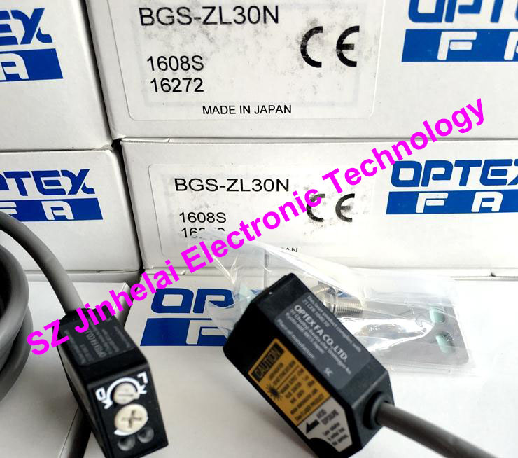 New and original BGS-ZL30N OPTEX   PHOTOELECTRIC SWITCH  Photoelectric sensor, NPN output new and original v4r 1200 optex photoelectric switch photoelectric sensor