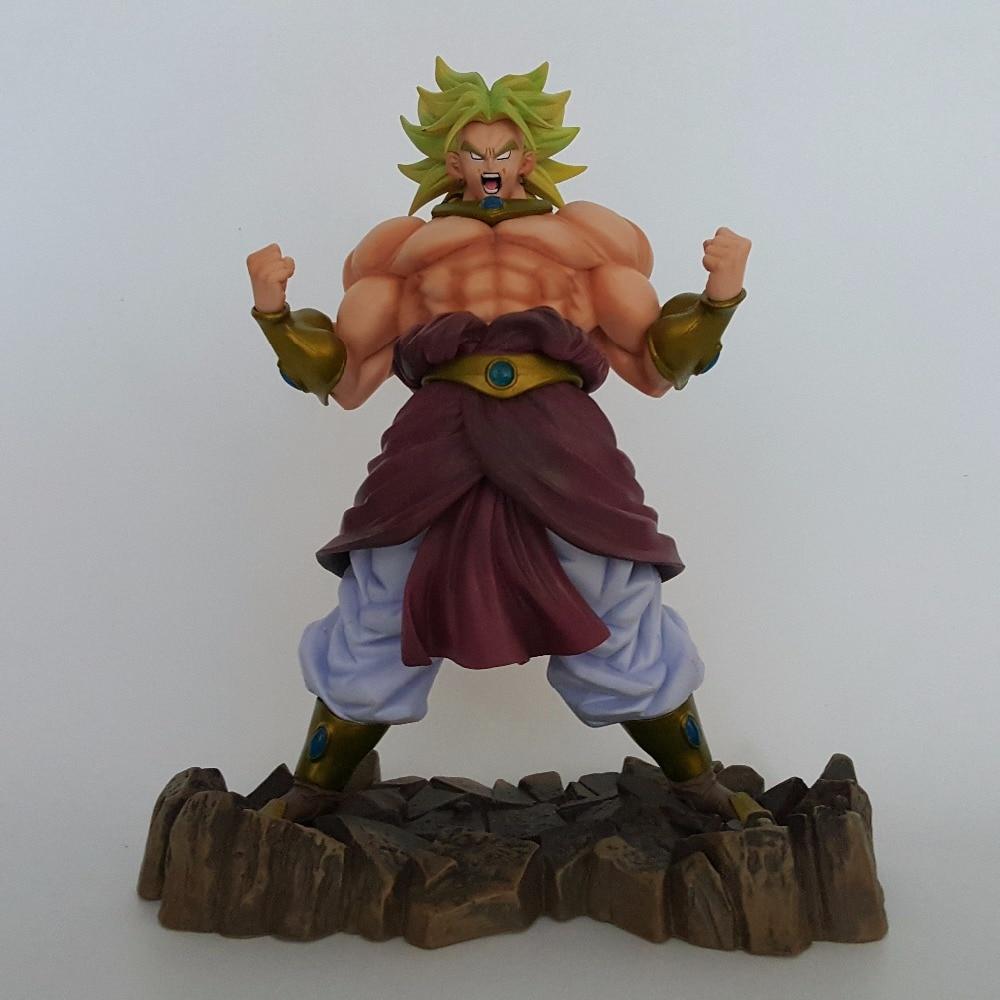ФОТО Dragon Ball Z Broly Action Figures Super Saiyan PVC Figures 250mm Anime Dragon Ball Model Toy Esferas Del Dragon