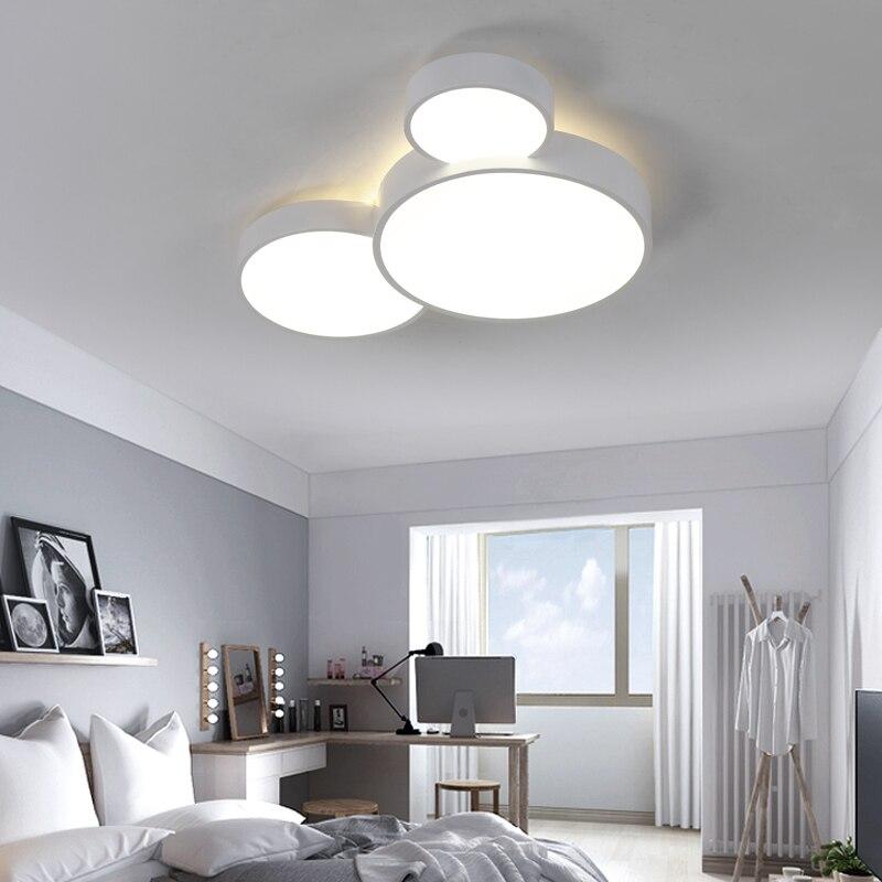 Купить с кэшбэком LED Ceiling Light Modern Panel Lamp Lighting Fixture Living Room Bedroom Kitchen Surface Mount Flush Remote Control