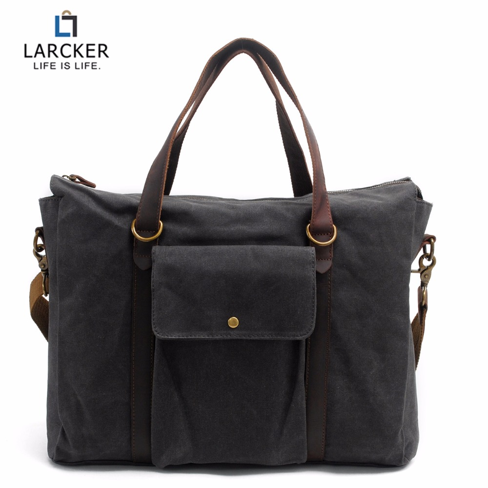Larcker Cowhide Patchwork Canvas Leather Crossbody Bag Men Vintage Messenger Bags Large Shoulder Bag Travel Bags 2017 canvas leather crossbody bag men military army vintage messenger bags large shoulder bag casual travel bags