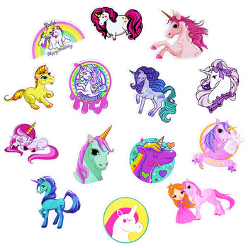 30Pcs Mixed Unicorn Cute Cartoon Sticker Dream Anime Kids Toy Stickers for DIY Laptop Phone Luggage Skateboard Bedroom Stickers 1