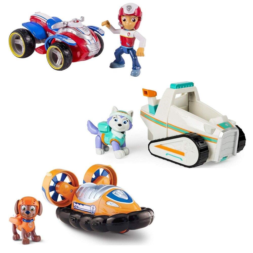 Genuine Nickelodeon Paw Patrol Everest ryder zuma Rescue Snowmobile Skye  Flyin Copter Ryder's Rescue ATV, Vehicle Figure-NO box