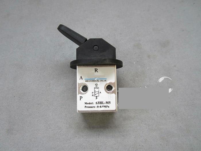 Supply AirTac genuine original mechanical valve S3HL-M5. original gas control valve syja522 m5