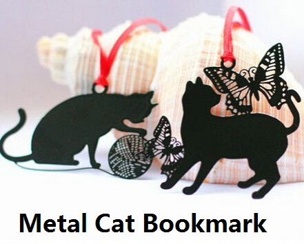 promotional gifts retro fun creative retro Black Cat design diy fun metal bookmark.Gift tag.card bag.retail great deal