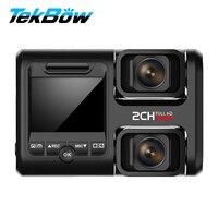 Tekbow Dual Lens Car DVR Video Recorder Camera 4K UHD Two Cameras Novatek 96663 Dash Cam Parking Monitor Registrar Night Vision