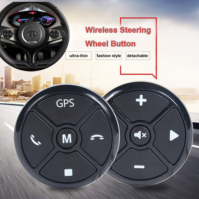 Ultrathin Wireless Car Steering Wheel Remote Control Android Double Din Radio Player Universal Fashion Third