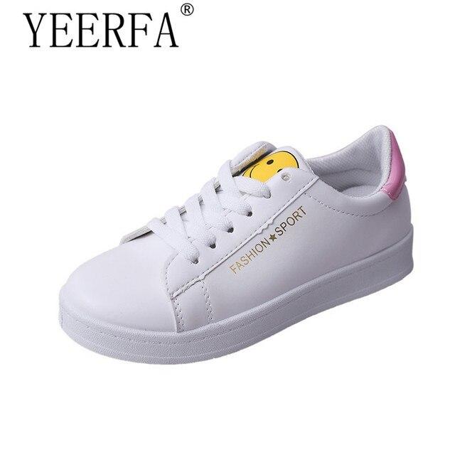 8c2e8cc03 YEERFA Novos Sapatos de plataforma plana mulher tenis feminino sapatos  casuais designer de moda de luxo