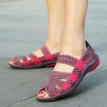 2016 Summer Women Platform Sandals Shoes Women Woven Shoes Flat Shoes Flip Flops Women Multi Colors Ladies Shoes