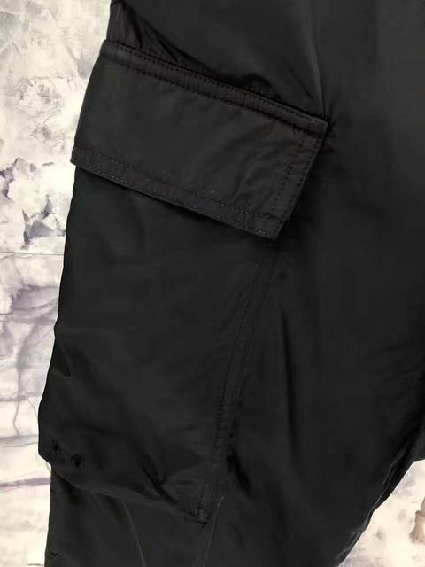 men black draw string drop low crotch ankle length cargo pants