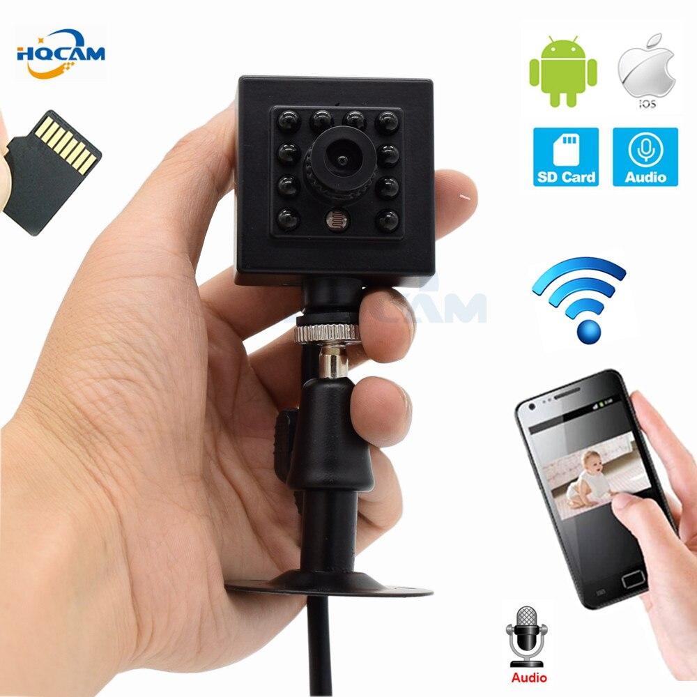 HQCAM WI-FI TF слот 720 P 960 P 1080 P Крытый Onvif 2,1 Беспроводной IP Камера невидимым 10 шт. 940nm ИК светодиодный Встроенный микрофон восстановить camhi