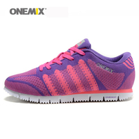 ONEMIX 2016 Popular Women Running Shoes Spring Summer New Sport Shoes Comfortable Walking Shoes Size Us