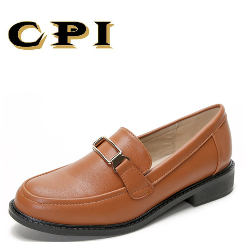 CPI 2018 New Spring autumn Womens Ballet Flats Soft Leather Flat Comfortable Women's Shoes Slip on simple Shallow mouth MM-023 cresfimix zapatos women cute flat shoes lady spring and summer pu leather flats female casual soft comfortable slip on shoes