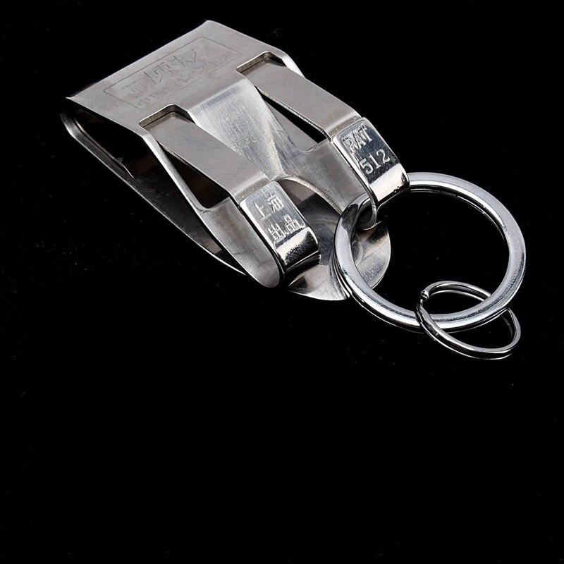 Человек серебра нержавеющей стали Съемный брелок ремень талии повесили металла double loop цепи анти износостойкость окисления