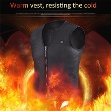Practial Men Women Outdoor USB Infrared Heating Vest Jacket Winter Flexible Electric Thermal Clothing Waistcoat Fishing Hiking cheap COTTON XQ91744 Fits smaller than usual Please check this store s sizing info POWER DRY
