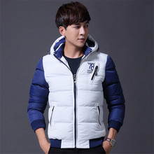 Men's thick warm winter clothes casual cotton hooded padded jacket 100% cotton Casual jacket suitable for young people