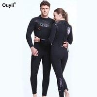 5 мм мокрый костюм неопрен плавания теплой гидрокостюм человек Для женщин водолазный костюм Surf Триатлон купальник с длинным рукавом Солнце
