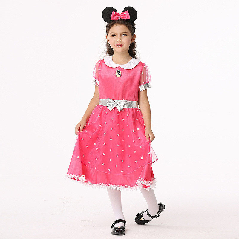 Girl Polka Dot Dress Costume Halloween Kids Tutu Dress Fancy Clothing for Party Children Cosplay Tulle Tutu Vestido Clothing 4pcs gothic halloween artificial devil vampire teeth cosplay prop for fancy ball party show