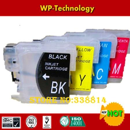 Пустой картридж для LC38 LC61 LC65 LC67 LC980 LC1100, подходит для Brother DCP145C/165C/185C/385C/585CW и т. Д.