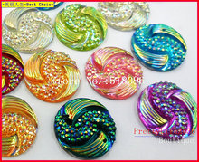 Gorgeous Round Rhinestones,Mixed Color 20mm For Sewing Accessories Stones and Crystals Strass Crystal Wedding Decoration Crafts gorgeous artificial crystals rhinestones oval necklace for women