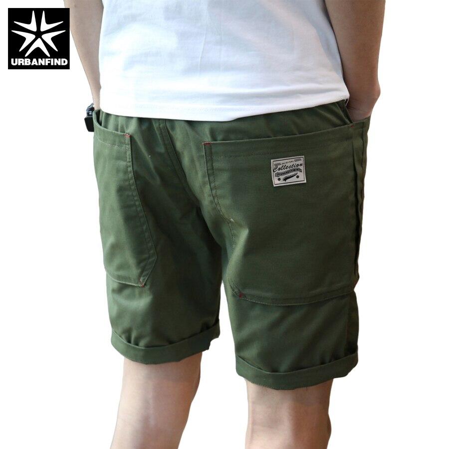 Homens shorts tamanho m 3xl urbanfind design simples homem bermudas retas  preto exército cor verde masculino shorts fit verão em de no AliExpress.com  ... e2f3e7aa7ef1d