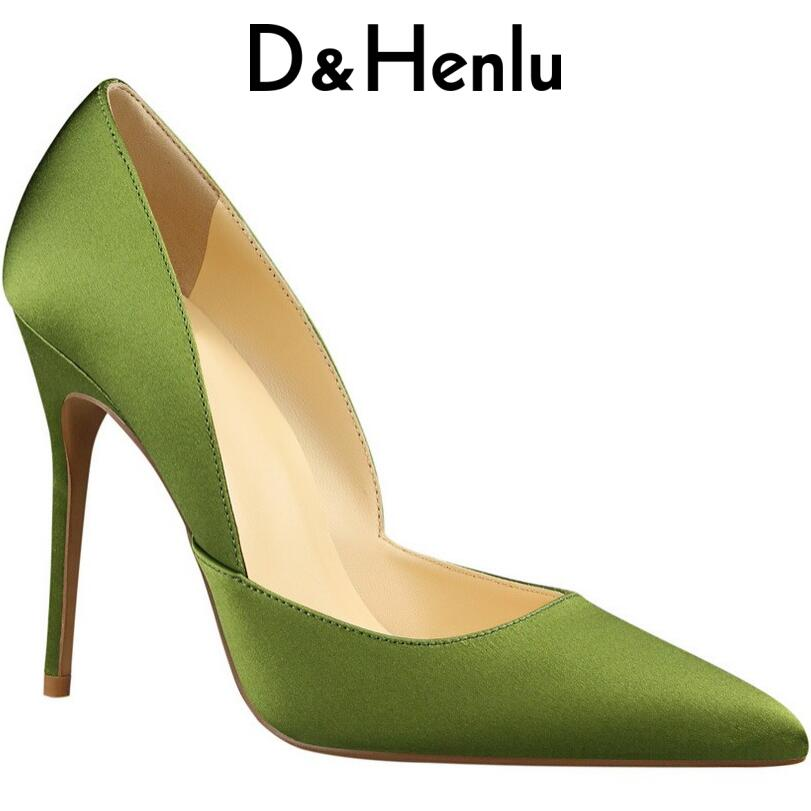D&Henlu Women Shoes High Heel Womens Red Shoes Women For Wedding Ladies Shoe With Heels Party High Heels Pointed Toe Pumps womens leather velvet high heels corset pointed toe party pumps ladies wedding shoes us size 4 11 302 27ve