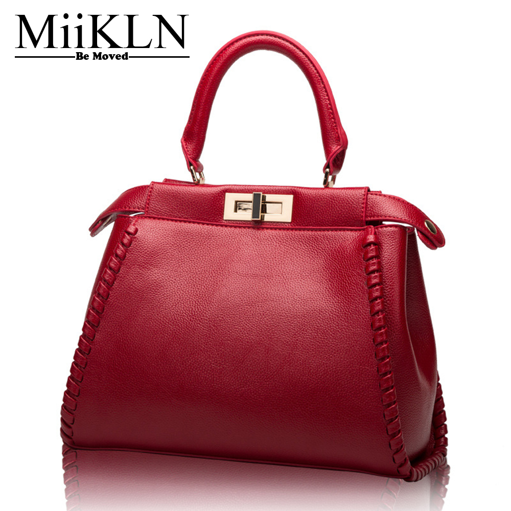 MiiKLN Fashion Women Handbags Genuine Leather Shell Type Cow Leather Totes Shoulder Crossbody Bags High Quality Soft Middle Size high tech and fashion electric product shell plastic mold