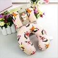 Cabeça macio Infantil do bebê tampa de proteção Do Pescoço U Travesseiro apoio do pescoço travesseiro Assento de Carro Do Bebê Carrinho De Criança Pad Acessório de Viagem Macaco Brinquedos