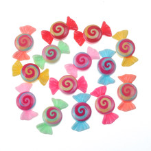 50pcs Mixed Resin Candy Decoration Crafts Flatback Cabochon Embellishments For Scrapbooking Beads Diy Accessories(China)