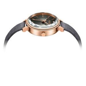 Image 3 - New Julius Womens Watch Japan Quartz Cutting Glass Lady Hours Fashion Clock Bracelet Real Leather Girls Birthday Gift Box