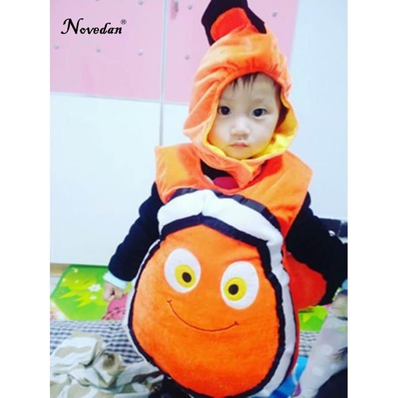 Image 2 - Nemo Costume Baby Kids Fish Clownfish From Pixar Animated Film Finding Nemo Halloween Christmas Cosplay Costume    -