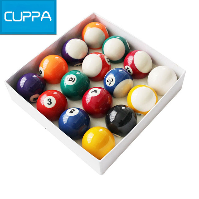 High Quality Cuppa Pool Table Billiard Balls Set 52mm/57mm Snooker Billiards  Accessories China
