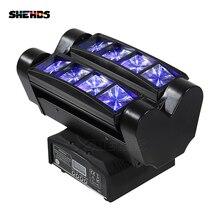Быстрая Мини светодиодный прожектор 8x10 Вт RGBW движущаяся головка светильник ing светодиодный сценический светильник для вечеринок DJ Disco Свадебные украшения