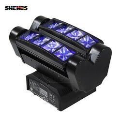 Быстрая доставка Мини светодиодный прожектор 8x10 Вт RGBW движущаяся головка светильник ing светодиодный сценический светильник для вечеринок ...
