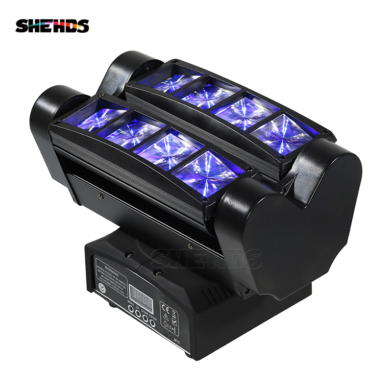 Fast Shipping Mini LED Beam Spider 8x10W RGBW Moving Head Lighting LED Stage Light Good For Parties DJ Disco Wedding Decoration