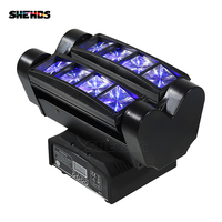 Fast Shipping Mini LED Beam Spider 8x10W RGBW Moving Head Lighting LED Stage Light LED Party DJ Christmas