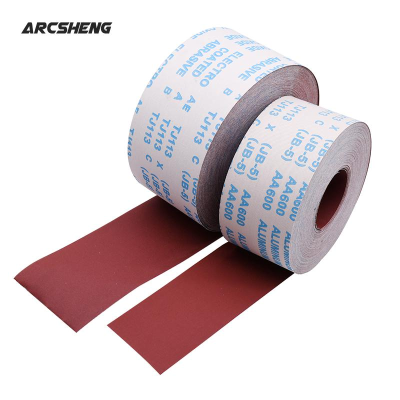 1 Meter 80-600 Grit Emery Cloth Roll Polishing Sandpaper For Grinding Tools Metalworking Dremel Woodworking Furniture