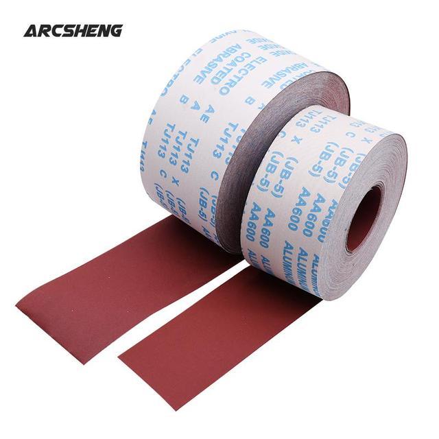 1 Meter 80 600 Grit Emery Cloth Roll Polishing Sandpaper For Grinding Tools Metalworking Dremel Woodworking Furniture