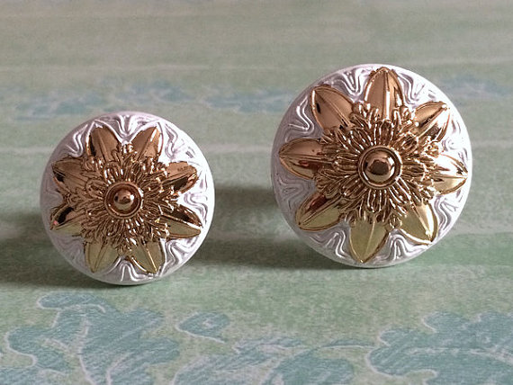 Drawer Pulls Handle Shabby Chic Dresser Pull Silver White Gold Kitchen Cabinet Door Knobs Flower Blossom Cupboard Decorative furniture drawer handles wardrobe door handle and knobs cabinet kitchen hardware pull gold silver long hole spacing c c 96 224mm