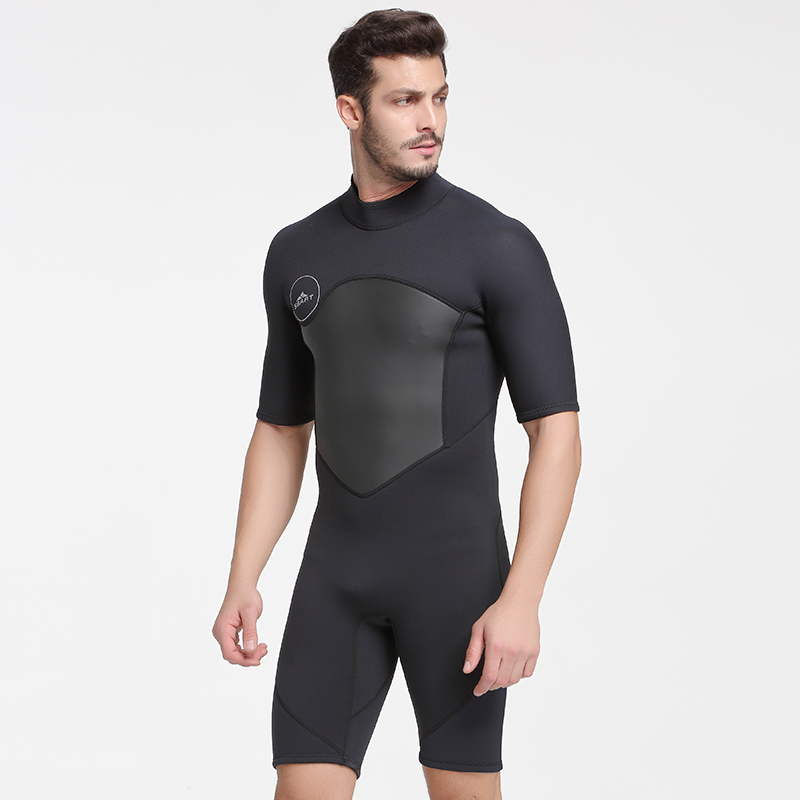 Image 5 - SBART 2MM Neoprene Wetsuit Men Keep Warm Swimming Scuba Diving Bathing Suit Short Sleeve Triathlon Wetsuit for Surf Snorkeling-in Wetsuit from Sports & Entertainment