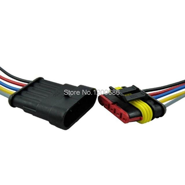 5 pin way car auto waterproof electrical connector plug socket kit rh aliexpress com Plug Electrical Supplies Residential Electrical Supplies