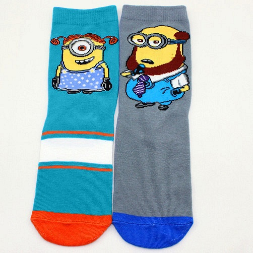 2671d342cb4 1 Pair Hot Sell Despicable Me Minions Socks Contrast Color Lovety Cartoon  Cotton Ankle Socks Women Men Happy Cute Socks-in Socks from Underwear    Sleepwears ...