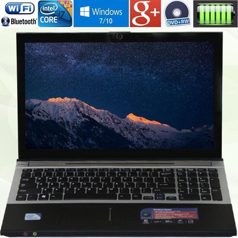 8 ГБ Оперативная память DDR3 + 1000 ГБ HDD + 60 ГБ SSD Intel Core i7 Процессор ноутбуки 15,6 1920X1080 P Windows 10 системы Тетрадь PC игровой ноутбук компьютер