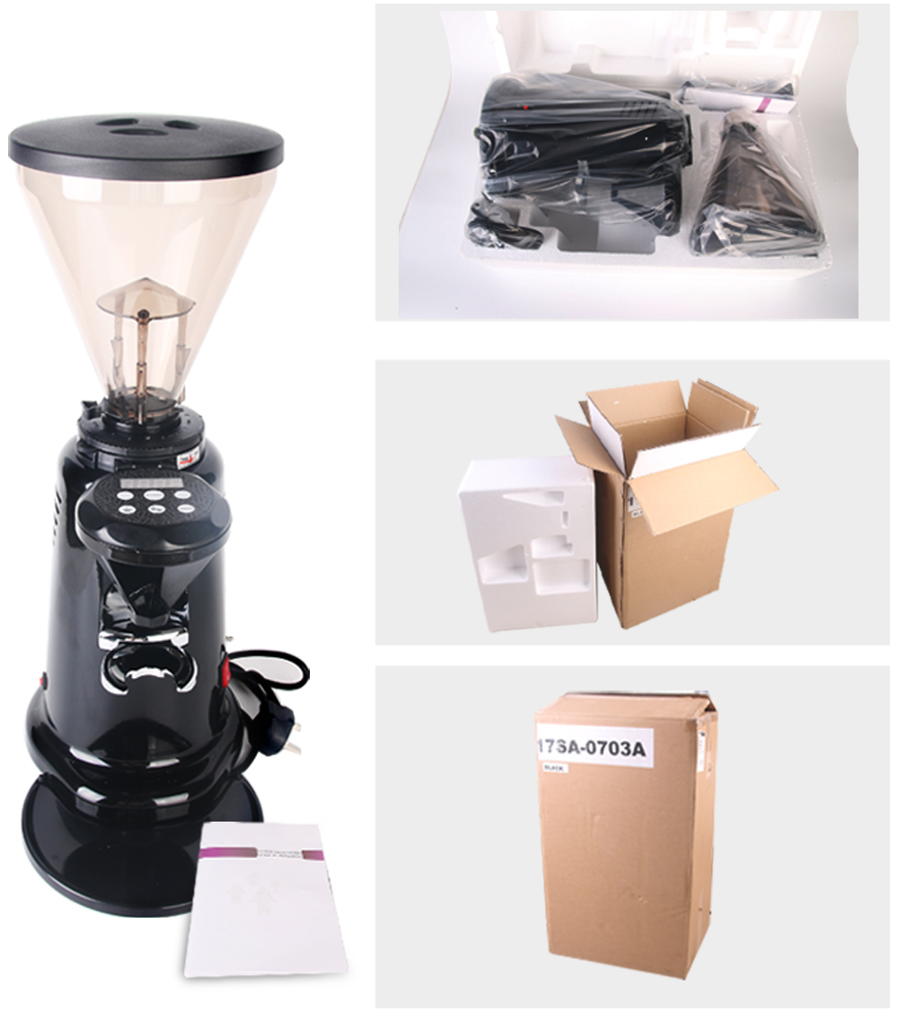Coffee Bean Grinder 350W Powder Milling Machine Commercial Type Professional Maker 6-9Kg/hour