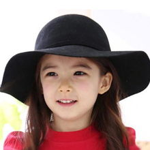 Fashion Vintage Solid Polyester Fedoras hat sun jazz gangster Kids Child Boy Girl Hats Fedora Floppy Sun Beach Cap New Brand 2018 new cool photography fedora cotton hats 2 6 years best gift to children child jazz hat jazz toddler kids baby boy girl cap