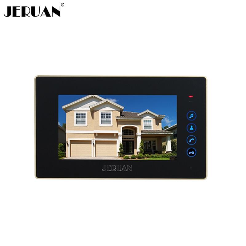 JERUAN 7`` TOUCH KEY Screen video door phone doorbell video door phone intercom system 722B monitor + Power Adapter