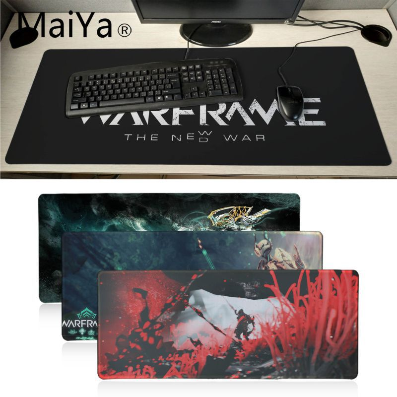 Maiyaca Warframe Hero Game Mouse Durable Desktop Mousepad Table Keyboard Gaming Mouse Pad Gamer 60X30CM Large Computer Desk Mat