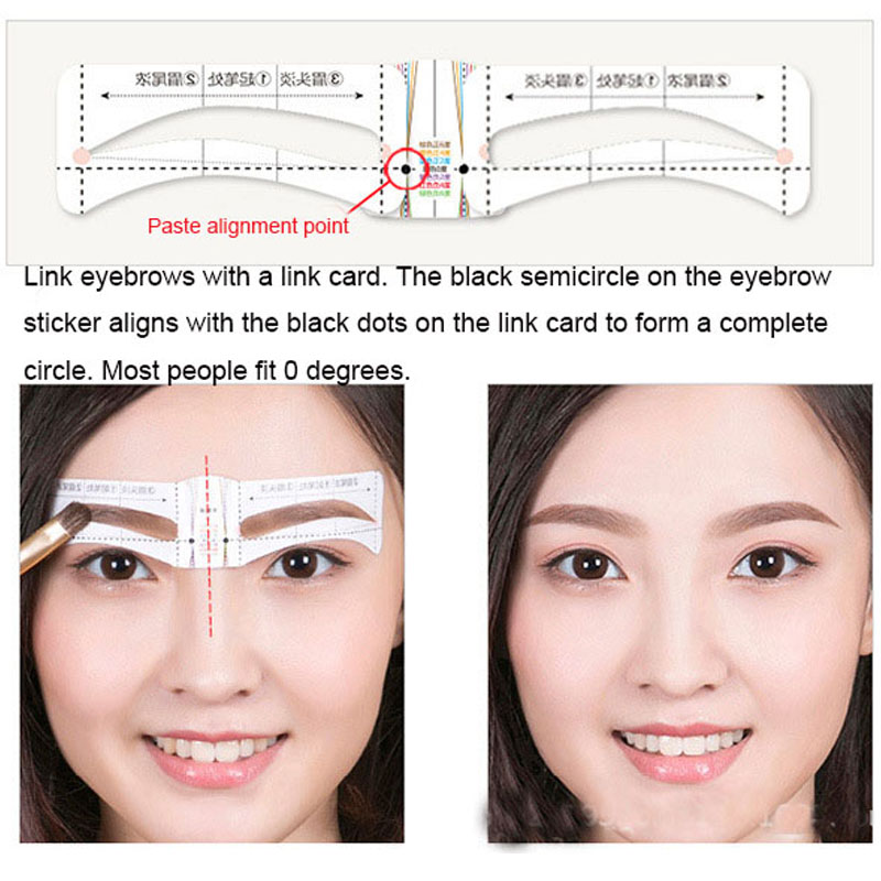 Eye Makeup Eyebrow Stencil 10 Different Eyebrow Shape Template Beauty Cosmetic For Women Eyebrow Drawing Guide Ruler AC068